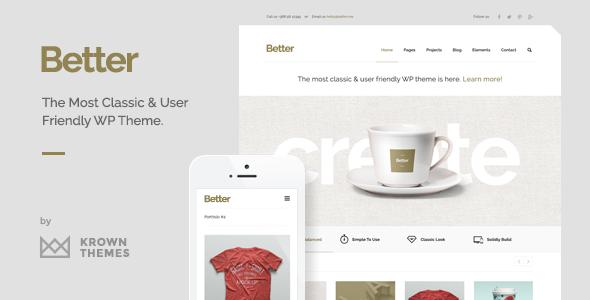 Better – Minimalistic Business WordPress Theme