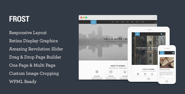 Frost – Multipurpose One Page WordPress Theme