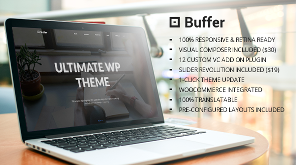 Buffer – Responsive Multipurpose WordPress Theme