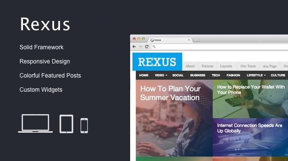 Rexus – Responsive Magazine Theme