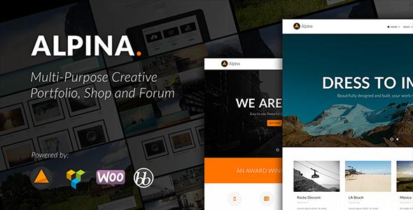 Alpina – Multi-purpose Creative Portfolio and Shop