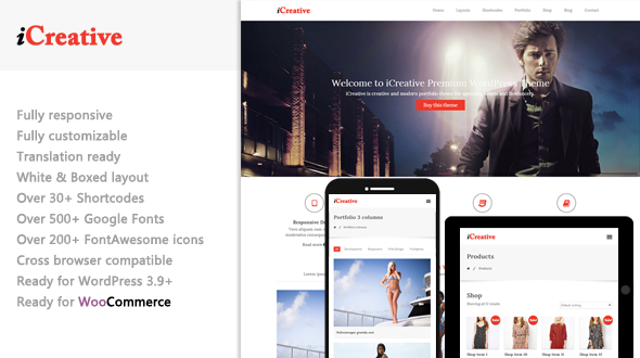 iCreative – Responsive Multipurpose WordPress Theme