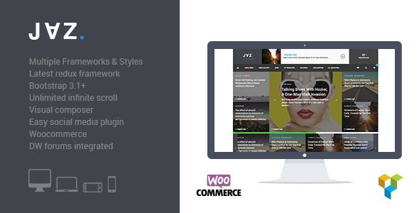 Jaz – Responsive WordPress Magazine Theme