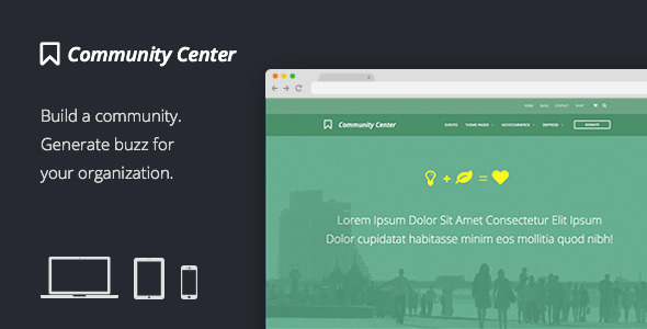 Community Center: Events, Forums, eCommerce