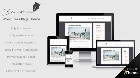 Brainstorm – Responsive WordPress Blog Theme
