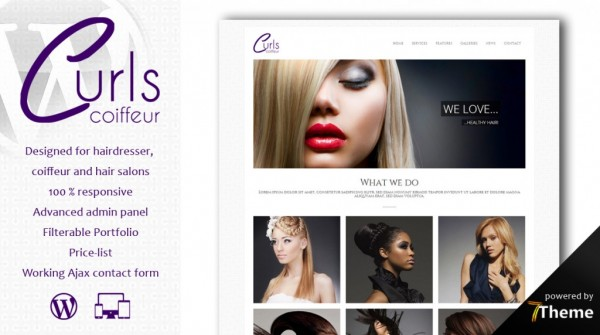 Curls -WordPress Theme for Hair Salons