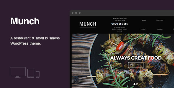 Munch – Restaurant & Business WordPress Theme