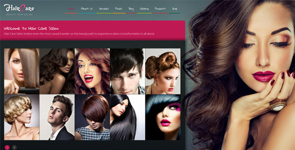 Hair Care – Creative Hair Salon WordPress Theme