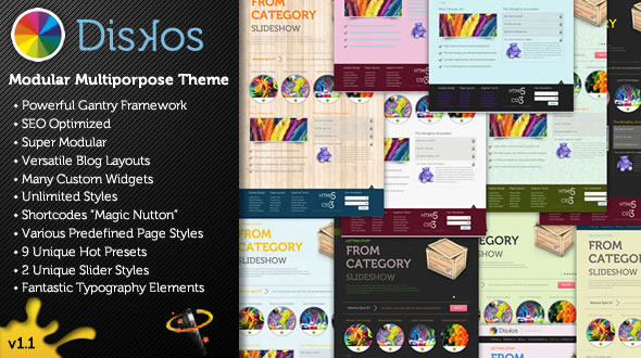Diskos – Modular Multipurpose WordPress Theme
