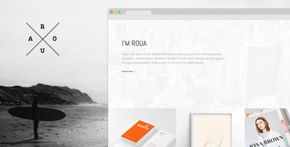 ROUA – Hipster Portfolio & Blogging WP Theme