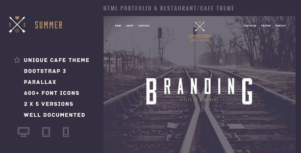 Summer – Portfolio & Restaurant/Cafe Theme