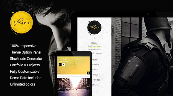 Reva – Photography Portfolio Responsive WordPress Theme