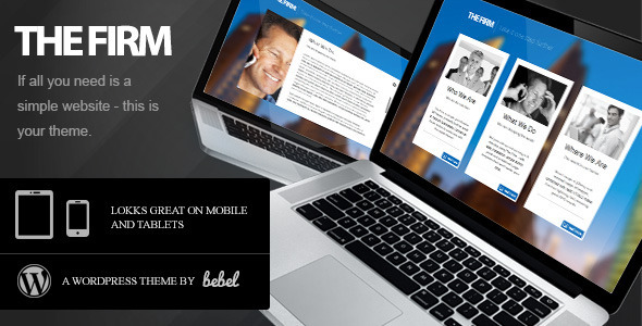The Firm – Simple Company WordPress Theme