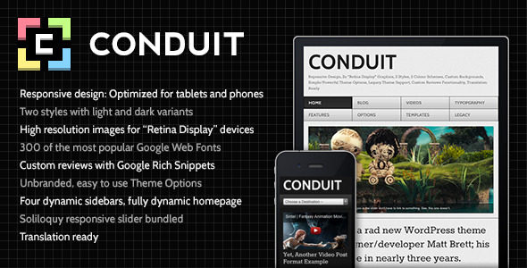 Conduit: Responsive WordPress Theme