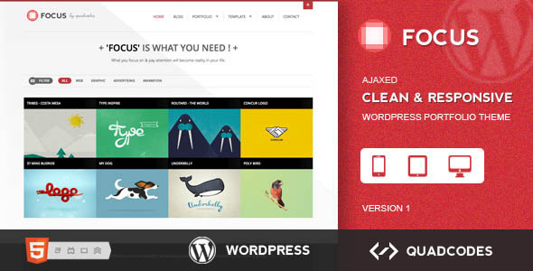 Focus – Clean & Responsive Ajax WordPress Theme