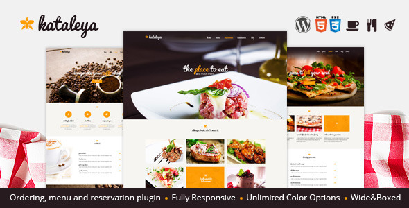 Kataleya – Restaurant Pizza Coffee WordPress Theme