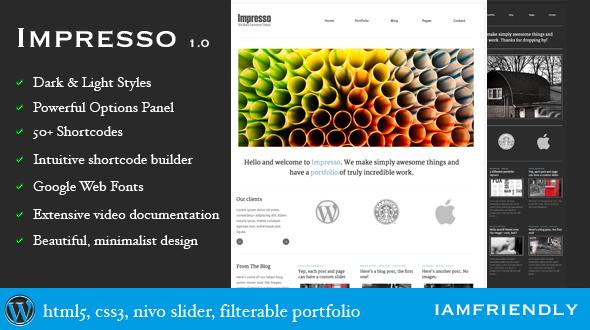 Impresso Premium Portfolio WordPress Theme