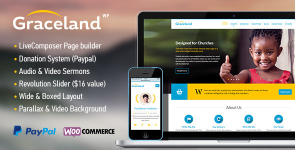 Graceland – Church, Charity & Fundraising Theme