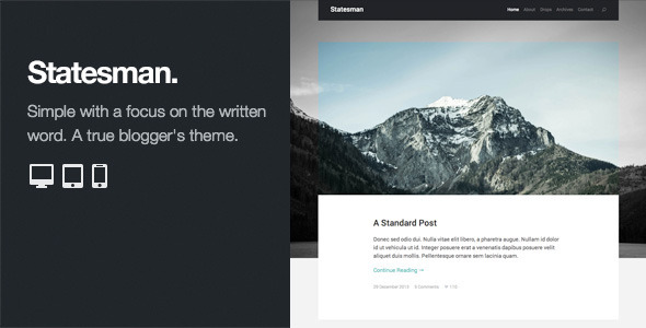 Statesman: Professional WordPress Blog Theme