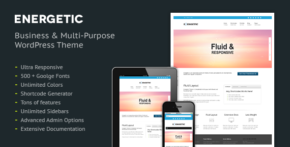 Energetic – Responsive WordPress Theme
