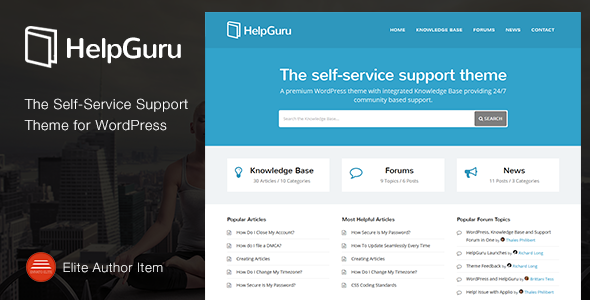 HelpGuru – A Self-Service Knowledge Base Theme
