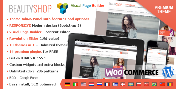 BeautyShop – Premium WordPress WooCommerce theme