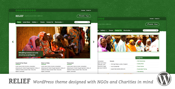 Relief – Charity Responsive WordPress Theme