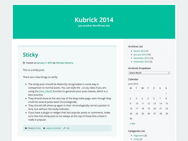 Kubrick 2014