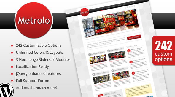 Metrolo – Powerful and Flexible WordPress Theme