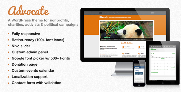 Advocate – A Nonprofit WordPress Theme