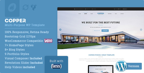 Copper – Responsive Multi-Purpose WordPress Theme