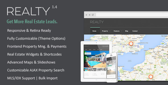 Realty – Responsive Real Estate WordPress Theme