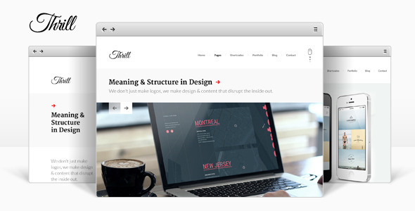 Thrill – One Page WordPress Theme