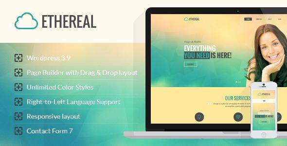 Ethereal – Multipurpose Parallax WordPress Theme