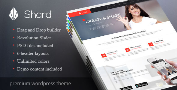 Shard – Multipurpose Business Parallax WP Theme