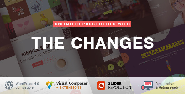 The Changes – One-Page Multi-Purpose WP Theme