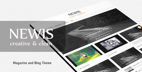 NEWIS / Creative Magazine & Blog Theme