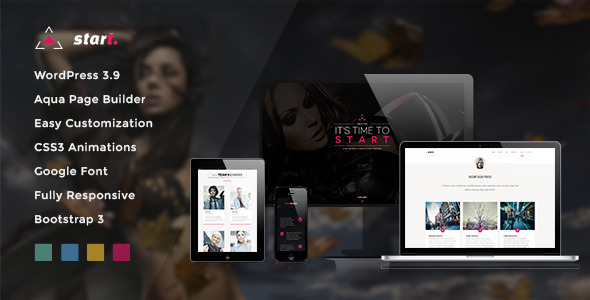 Start – One Page Responsive WordPress Theme