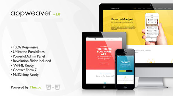 Appweaver – Responsive Multipurpose WordPress Theme