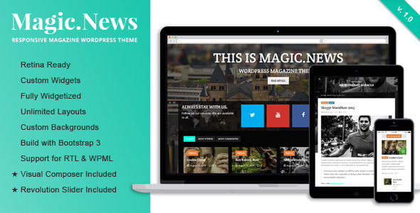 MagicNews – Responsive WordPress Magazine Theme