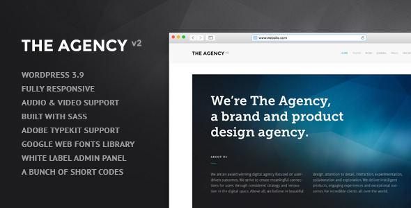 The Agency v2 – WordPress Theme for Agencies
