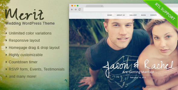 Merit – Responsive WordPress Wedding Theme