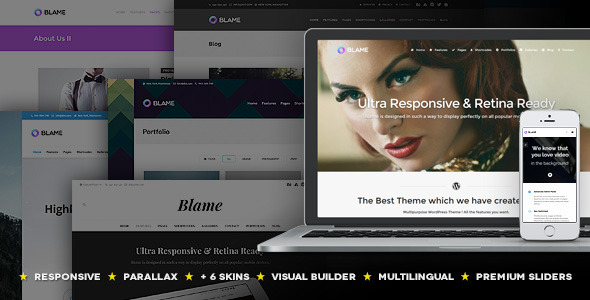Blame – Responsive MultiPurpose WordPress Theme