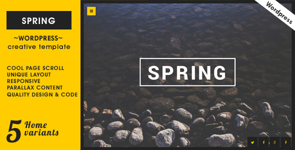 Spring – Creative One Page WordPress Theme