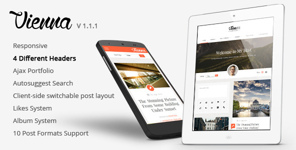 Vienna – Content Focused Personal Blog Theme