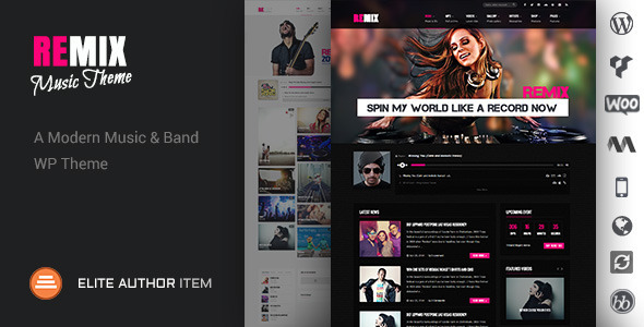 Remix – Music-Band-Club-Party-Event WP Theme