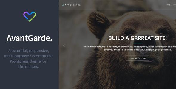AvantGarde – Responsive WordPress Theme