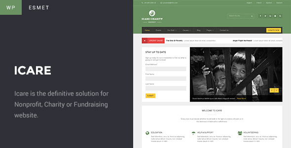 ICARE Charity – Fundraising and Nonprofit WordPress Theme