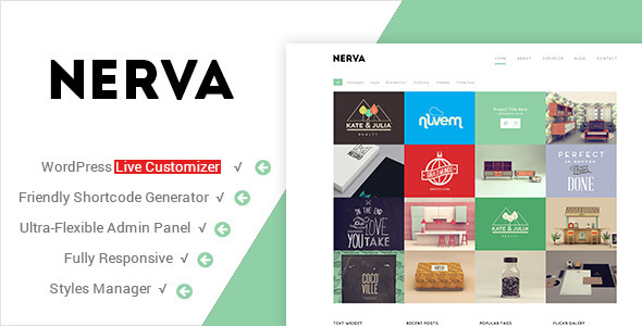 Nerva – Premium Minimal WordPress Theme