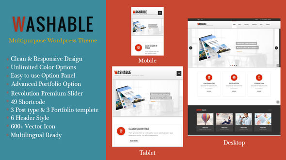 Washable – Multipurpose Responsive WordPress Theme